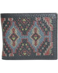 Etro - Kilim Printed Textured Leather Wallet - Lyst