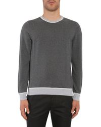 "BOSS - Slim Fit Cotton ""marcelli"" Sweater With Colourblock Details - Lyst"