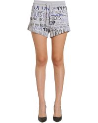 Moschino - Printed Cotton Shorts - Lyst