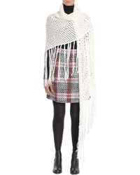 Carven - Fringed Crochet Wool Shawl - Lyst