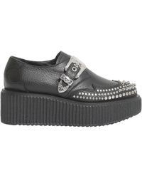 McQ - Studded Nevada Creeper In Grainy Leather - Lyst