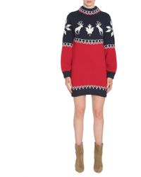 DSquared² - Knitted Woll And Alpaca Blend Dress - Lyst