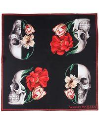 Alexander McQueen - Skull Bloom Scarf In Silk - Lyst