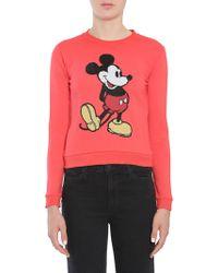 Marc Jacobs - Felpa Corta Con Ricamo Mickey Mouse In Pailettes - Lyst