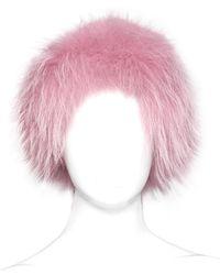 Mr & Mrs Italy - Murmasky Fur Headband - Lyst