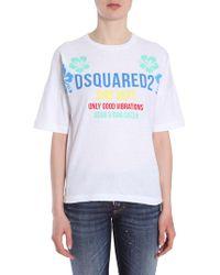 DSquared² - T-shirt Girocollo In Cotone - Lyst