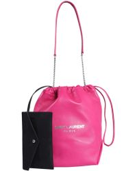 56dd7b42e47db Saint Laurent Teddy Leather Bag in Black - Lyst