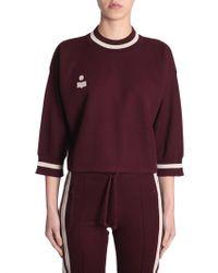 "Étoile Isabel Marant - ""dayton"" Sweatshirt With Contrast Trim And Logo - Lyst"