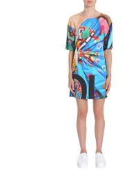 23b724079566 Love Moschino Abito Centaur Graphic T-shirt Dress in Black - Lyst
