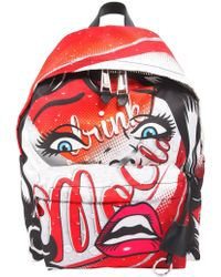 Moschino - Printed Fabric Backpack - Lyst