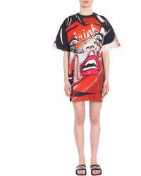 Moschino - Oversize Fit Cotton Jersey Dress - Lyst