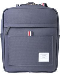 Thom Browne - Mixed Cotton Backpack With Zip - Lyst