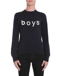 "Comme des Garçons - ""boys"" Printed Wool Jumper - Lyst"