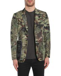 """Givenchy - """"camo Dollar"""" Print Techno Satin Jacket - Lyst"""