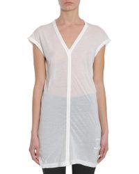 Rick Owens Drkshdw - V Collar Cotton Jersey T-shirt - Lyst