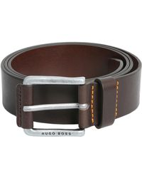 BOSS by Hugo Boss - Leather Belt With Buckle - Lyst
