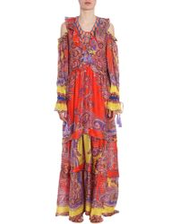 Etro - Long Silk Dress - Lyst