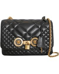 97ac02aa4e30 Versace - Icon Shoulder Bag In Quilted Leather - Lyst