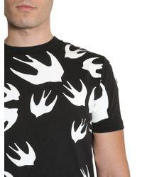 "McQ - ""swallow Swarm"" Round Collar T-shirt - Lyst"