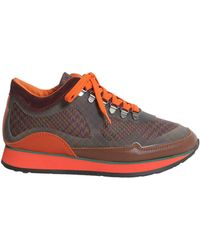 Etro - Sneaker In Pelle E Tessuto Con Fondo Running - Lyst