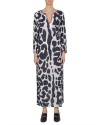 "Tory Burch | Caftano ""clouded Leopard"" Con Spacchi 