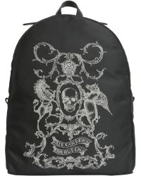 Alexander McQueen - Coat Of Arms Printed Backpack In Technical Fabric - Lyst