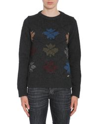 DSquared² - Round Collar Jumper With Intarsia - Lyst