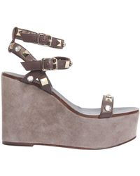Ash - Touch Wedge Leather Sandals - Lyst