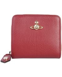 1578743cf Vivienne Westwood Balmoral 321386 Medium Zip Around Wallet Pink/cream in  Pink - Lyst