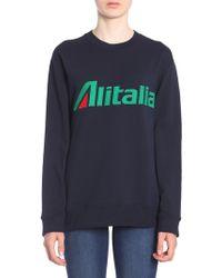"""Alberta Ferretti - """"alitalia"""" Embroidered Cotton Sweatshirt - Lyst"""