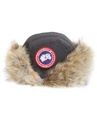 Canada Goose - Cappello Aviator Con Pelliccia Di Coyote - Lyst