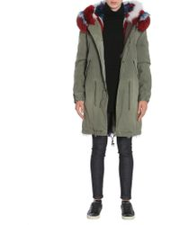 Mr & Mrs Italy - Parka Army In Cotone Bordato In Murmasky Patchwork - Lyst