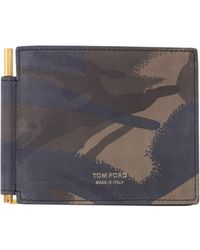 Tom Ford - Bifold Wallet In Camouflage Leather - Lyst
