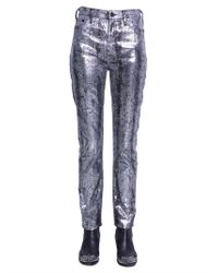 McQ - Coated Cotton Five Pocket Jeans - Lyst