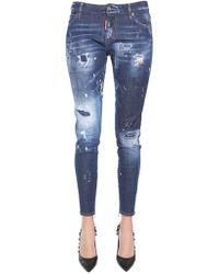 DSquared² - Super Skinny Fit Stretch Denim Jeans - Lyst