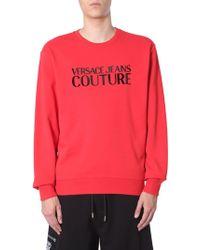 Versace Jeans - Rubber Logo Print Sweatshirt - Lyst