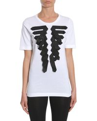 DSquared² - Round Collar T-shirt With Military-style Detail - Lyst