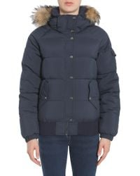 "Pyrenex - ""aviator"" Down Jacket With Fur Trimmed Hood - Lyst"