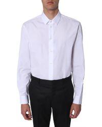 Saint Laurent - Cotton Poplin Shirt With Yves Collar - Lyst