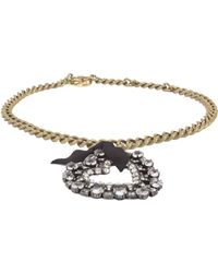 Lanvin - Small Necklace With Gros Grain Heart - Lyst