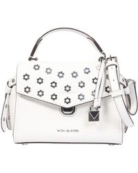 MICHAEL Michael Kors - Studded Bristol Leather Handbag - Lyst