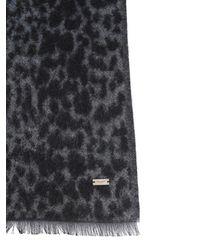 Saint Laurent Etole Leopard Mixed Cotton Scarf - Multicolour