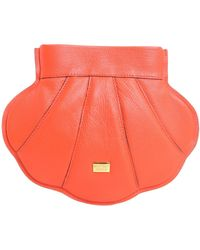 Boutique Moschino - Shell Crossbody Leather Bag - Lyst