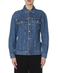 Moschino - Denim Jacket With Teddy Bear Embroidered In Paillettes - Lyst
