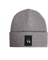 Y-3 - Wool Beanie With Logo - Lyst