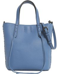 Rebecca Minkoff | Mini Unlined Lleather Tote With Whipstitch | Lyst