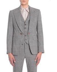 Vivienne Westwood - Prince Of Wales Wool Jacket With Internal Vest - Lyst