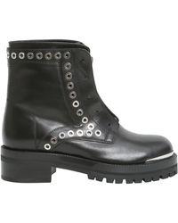 Alexander McQueen - Leather Biker Boots - Lyst