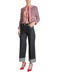 Boutique Moschino - Tweed Jacket With Contrast Trim - Lyst