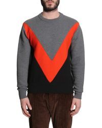 AMI - Round Collar Wool Jumper - Lyst